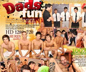 Welcome to Dads Fun - wild gangbang zone with mature gay studs fucking fresh lads for fun!
