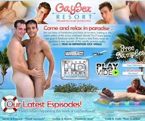 Welcome to Gay Sex Resort - cute pool boys in gay action!
